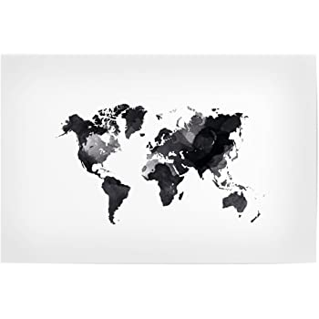 Black and white world map unique design poster print traveler artboxone poster travel world map white 30x20 cm design art print by sophie feist gumiabroncs Gallery