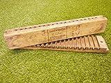 Authentic 1920er Hart & Hertel Holz Zigarre Form Box