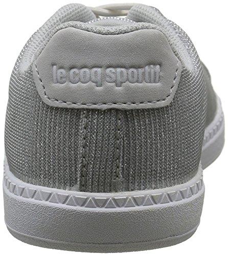 Le Coq Sportif Courtone Inf Glitter, Scarpe da Ginnastica Basse Bambina Grigio (Galet)