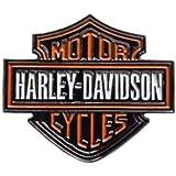 Pin de metal esmaltado para motoristas Harley Davidson de aproximadamente 35 mm x 30 mm, insignia de metal resistente al desg