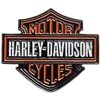 Spilla in metallo smaltato a forma di bikers Harley Davidson, circa 35 mm x 30 mm, resistente all'ossidazione