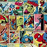 Marvel Heroes Papier peint Thor Hulk Captain America Spiderman Muriva