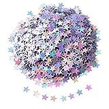 Stern Konfetti Stern Tisch Konfetti Stars Pailletten für Party Hochzeit Lieferungen, 45 Gramm, Silbrig