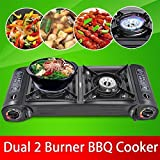 chinkyboo Portable Gas Cooker Stove Camping Cooker Oven -Double Burner