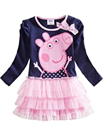 e550a509114f32 Uni-Wert Mädchen Kleid Süß Baby Mädchen T-Shirt Ballett Kleid Prinzessin  Kleid Girl