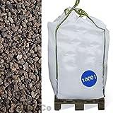 Hamann Lava-Mulch Rot 16-32 mm Big Bag 1000 l - Speichert Wärme und Feuchtigkeit - Unterdrückt Wachstum von Unkräutern