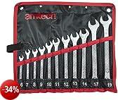 Am-Tech - Set di chiavi combinate (11 pezzi)