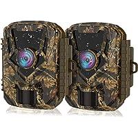 HOLLYWTOP Caméra de Chasse, 1080P 20MP Trail Caméra de Faune, Activée par le Mouvement avec Vision Nocturne Infrarouge…