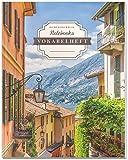 DÉKOKIND Vokabelheft   DIN A4, 84 Seiten, 2 Spalten, Register, Vintage Softcover   Dickes Vokabelbuch   Motiv: Italienische Gasse