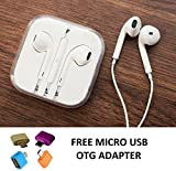 #6: Fabiant Earphones With Mic And Volume Button For Apple iPhone, iPad, iPod, Android Phones With 3.5mm Jack