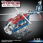 Tronico Metallbaukasten, Polizei Hubschrauber, Maßstab 1:32, batteriebetrieben, drehender Rotor, Tür zum Öffnen, 1:32, 4-farbige Aufbauanleitung, inklusive Werkzeug, Profi Serie, ab 12 Jahren, rcee