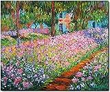 Impresión sobre lienzo de Monet, El jardín del artista en Giverny (1900), 50x 70cm sin marco