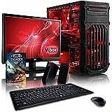VIBOX Delta Paquete 4 - 4,2GHz AMDFX8-CoreCPU, GPUGT710, Presupuesto, Ordenador de sobremesa para oficina Gaming, con monitor, Iluminaciàninterna rojo (3,3GHz (4,2GHz Turbo) SuperrápidoAMDFX8300 Ochoprocesador8-CoreCPU, Tarjeta gráficadedicada de 1GBNvidia GeforceGT710GPU, 8 GB Memoria RAM de DDR3, velocidad de RAM: 1600MHz, 1TB(1000GB)SataIII7200 rpmdiscoduroHDD, 85+ PSU400W, Caja deViboxrojo, Ningún sistema operativo)