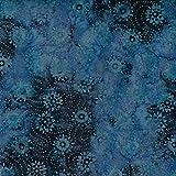 Fabric Freedom Blau Räder Design 100% Baumwolle Bali Batik