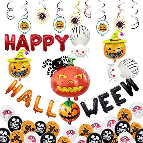 n Aluminium Ballon Set Lustiger Kopf Skelett Kürbis Form Ballon Halloween Party Dekoration Party Ballon Dekoration ()