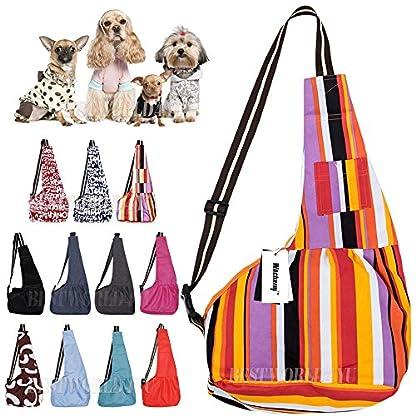 wocharm Puppy Kitty Rabbit Pouch Shoulder Carry Tote Handbag Pet Sling Carrier Hands-Free Sling Pet Dog Cat Carrier Bag… 1
