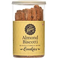 Hey Grain Almond Biscotti Cookies (Whole Grain Wheat Flour, Almonds, Demerara Sugar, Canola Oil, Salt, Baking Powder, Egg)