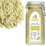 EDEL KRAUT | BIO INGWER GEMAHLEN im Premium GLAS - Ginger Powder Organic 500g