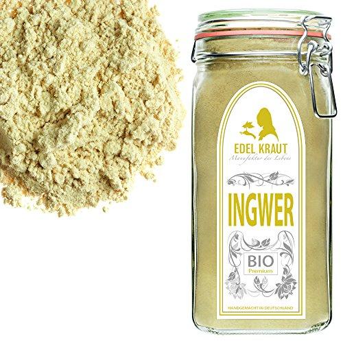 EDEL KRAUT | BIO INGWER GEMAHLEN im Premium GLAS – Ginger Powder Organic 500g