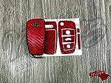Rot Carbon Faser Schlüssel Wrap Cover Haut Audi Fernbedienung A1A3A4A5A6A8TT Q3Q5Q7