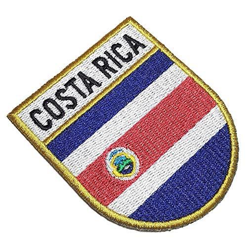 Parche bordado escudo bandera Costa Rica planchar