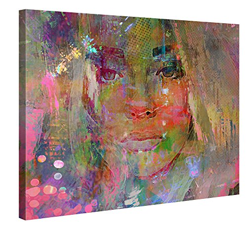 Gallery of Innovative Art XXL Leinwanddruck 100x75cm - Thoughtful Girl - Kunstdruck auf Leinwand