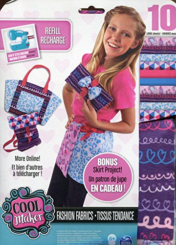 sew cool Creative Fabric Kit - kits de costura para niños (Combo kit, Fashion & design, Chica)