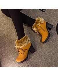 aa3850c9e2dfe HOESCZS Tacones Altos Calzado De Mujer Otoño E Invierno De Mujer Moda De Tacón  Alto Botas