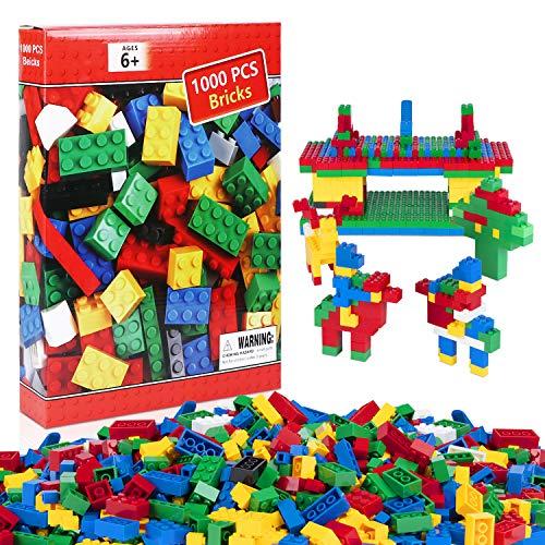 neego bloques de construcción 1000 piezas bloques de construcción infantil 3d juegos de construcción ladrillos de construcción juguete colorido juego para niños juguetes educativos (set c)