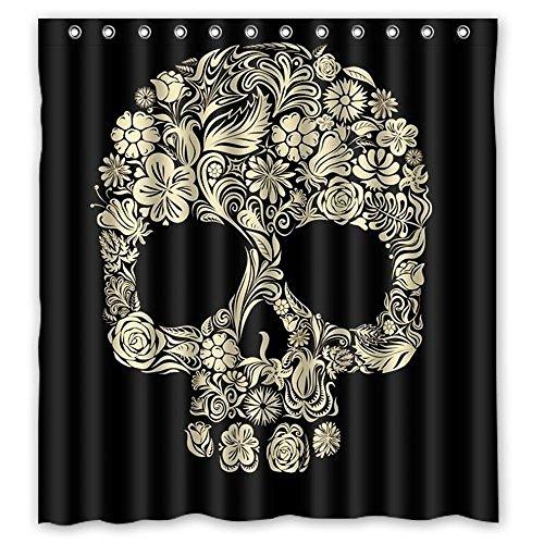 Dream Außerhalb Totenkopf Cool Personalisierte Design Custom Wasserdicht Duschvorhang aus Stoff, 167,6cm (W) X 182,9cm (H) (April Showers-stoff)