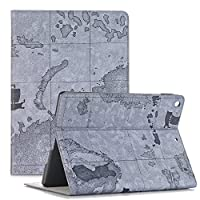 Miya System Ltd Map Pattern Premium PU Leather Flip Wallet Book Case