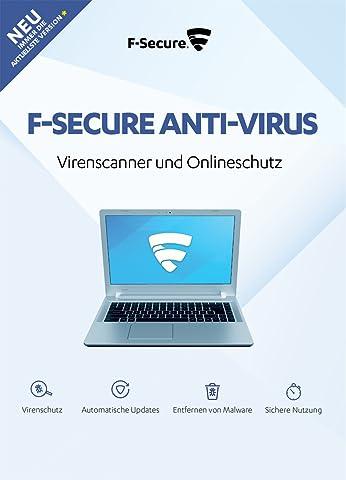F-Secure Anti-Virus - Update 1 Jahr / 1 PC (2018) [Online Code]