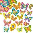 Farfalle Adesive in Spuma per Bambini Ideali per Decorare e Personalizzare Bigliettini, Creazioni Fai Da Te e Collage (confezione da 102)