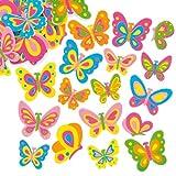 Moosgummi-Aufkleber Schmetterlinge - Sticker Set zum Basteln für Kinder und als Dekoration ideal für Frühling und Karten (102 Stück)