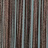 JEMIDI Fadenvorhang Tür Vorhang Gardine Schal Faden Türvorhang Fadengardine in 2 Größen (Braun, 140cm x 250cm)