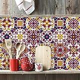 (15 Pieces) carrelage adhésif 20x20 cm - PS00130 - Sopron - Adhésive décorative à Carreaux pour Salle de Bains et Cuisine Stickers carrelage - Collage des tuiles adhésives