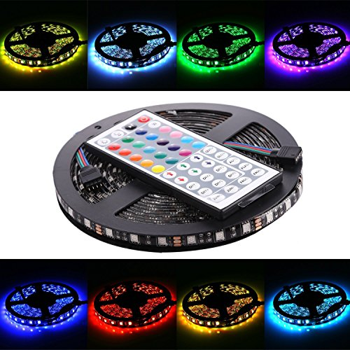 WenTop LED Flexible Wasserdichte Led Strip Kit 5050 5m RGB Led