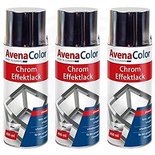3 x Avena Color Chrom Effektlack silber 400 ml