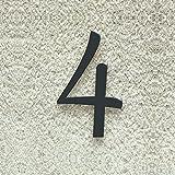 Colours-Manufaktur Hausnummer Nr. 4 - Schriftart: Klassisch - Höhe: 20-30 cm - viele Farben wählbar (RAL 7016 anthrazitgrau (anthrazit grau) glänzend, 20 cm)