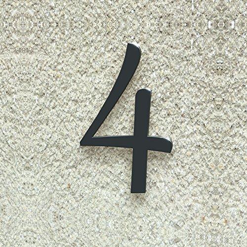 número de casa nº 4–Tipo de letra: clásico–Altura: 20–30cm–Muchos colores a elegir, RAL 7016 anthrazitgrau (anthrazit grau) glänzend, 20 cm