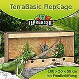 TerraBasic RepCage 100x50x50, Frontbelüftung, schwarze ABS Kanten