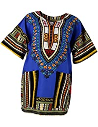 Homyl Vestido Africano para Hombres Unisex Impresiones Vestido Algodón Dashiki Camisa Étnico Caftán ...