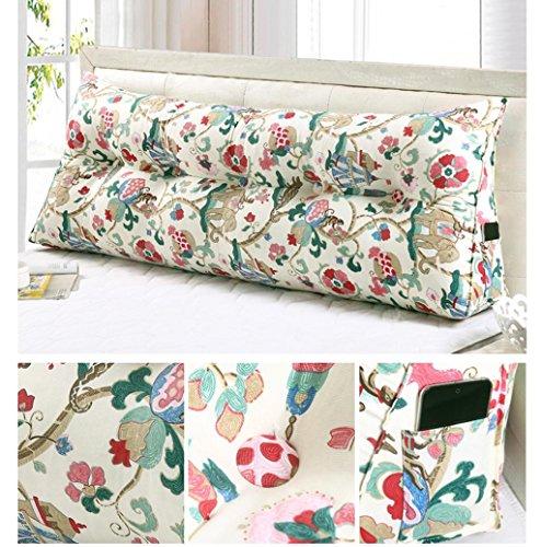 GHFDSJHSD FigtingEagle60CM Baumwolle Leinwand Bett dreieckig großes Kissen Doppelte Paar Rücken Tatami Sofa Kissen Rückenlehne, 6 Diablo Wind Jacket