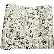 vintage peridico contacto papel vinilo de cajn para muebles artes decoracin del hogar