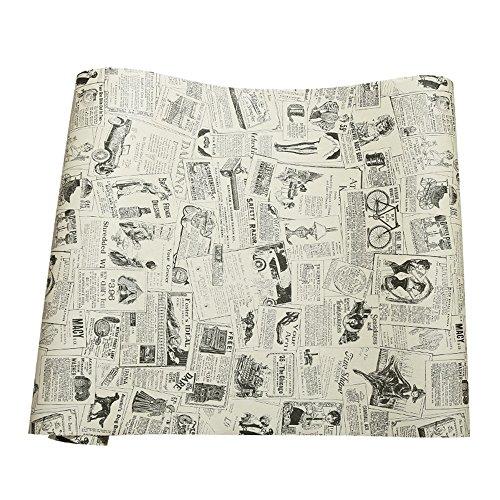 Papel adhesivo de periódico, vintage, de vinilo, revestimiento para cajones, muebles artes, manualidades, decoración del hogar, de 60 x 300 cm