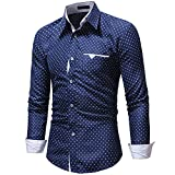 FIRSS Herren Taschen Hemd | Sterne Drucken Poloshirts | Knopf T-Shirt | Revers Tops | Business Oberteile | Slim Fit Sweatshirt | Casual Lose Langarmshirt
