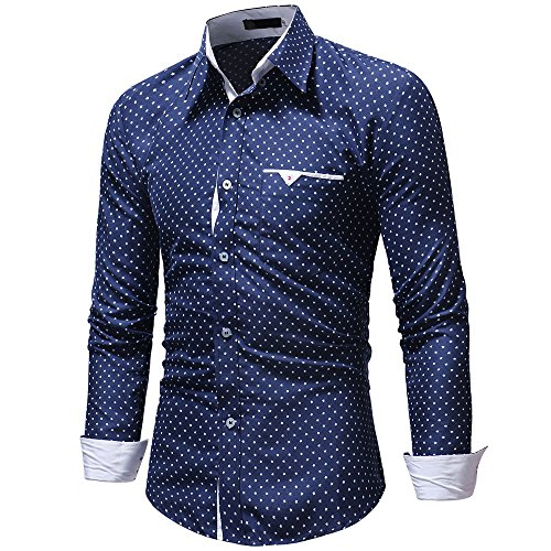 FIRSS Herren Taschen Hemd | Sterne Drucken Poloshirts | Knopf T-Shirt | Revers Tops | Business Oberteile | Slim Fit Sweatshirt | Casual Lose Langarmshirt (Herren Sweatshirt Zip Plaid Kapuzen)