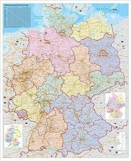 Xxl Deutschlandkarte Topografisch 100 X 70cm Nass Abwischbar