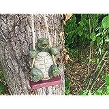Jardín tortuga Swinging Animal Escultura Figura decorativa