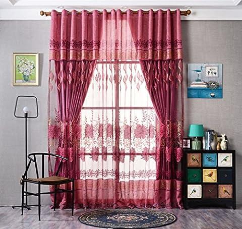 Vorhangschal mit Ösen, Voile, Kunstdruck Floral Tüll Vorhänge für Wohnzimmer,